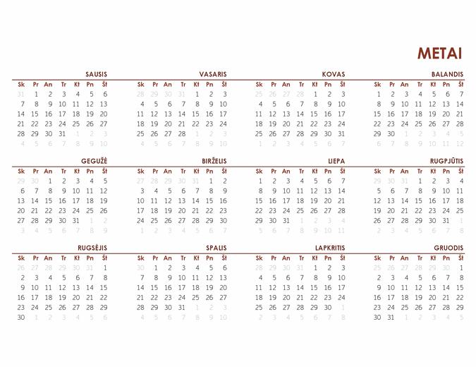 Visų metų pasaulinis kalendorius