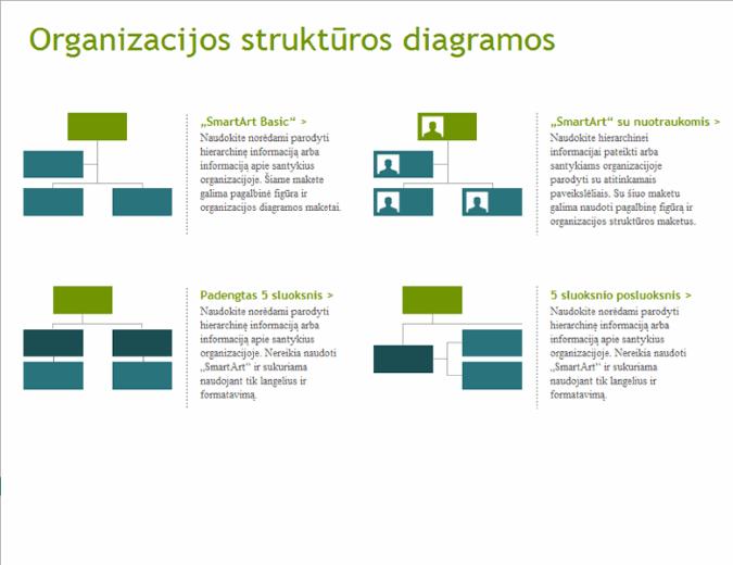 Vaizdinės organizacijos diagramos