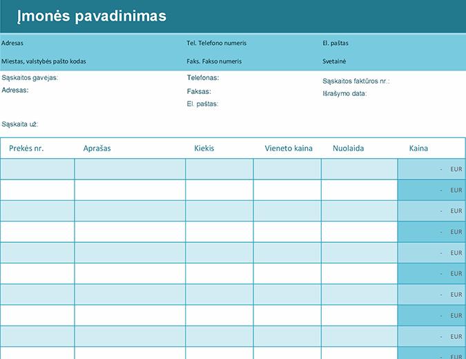 Paprasta sąskaita faktūra