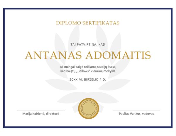 Diplomo sertifikatas