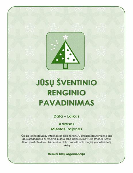 Šventinio renginio skrajutė (su žaliu medžiu)