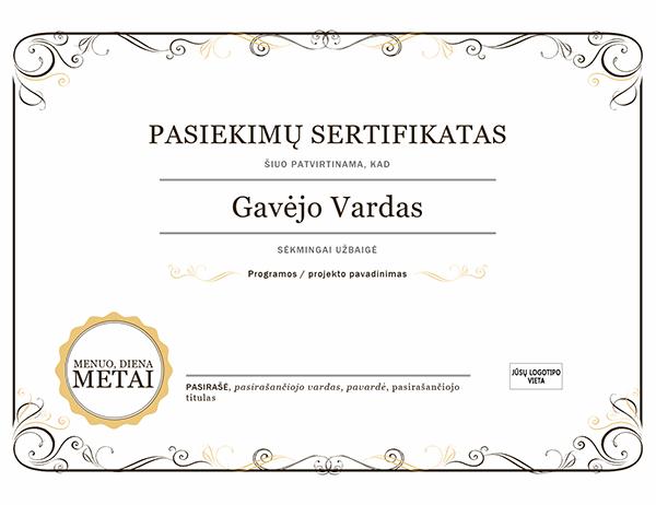 Pasiekimų sertifikatas