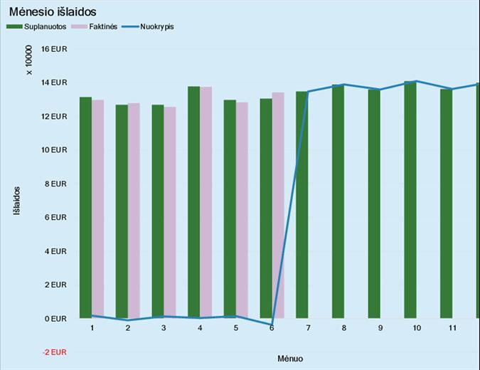 Verslo išlaidų biudžetas