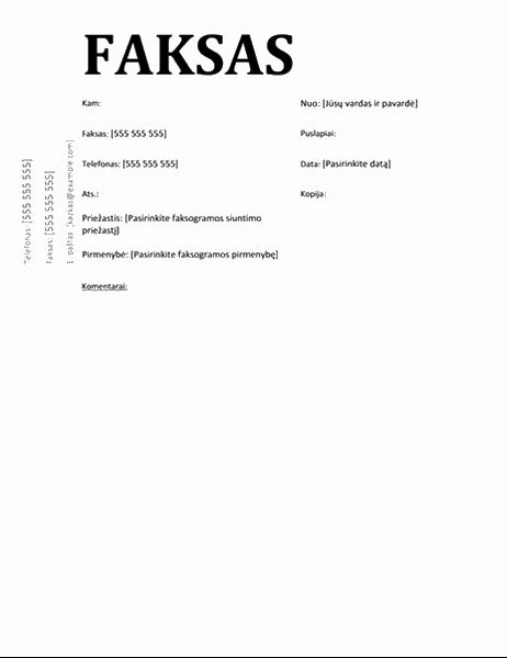 Faksogramos viršelis (mokslinis dizainas)