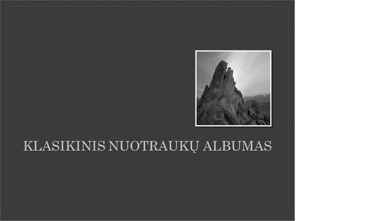 Klasikinis nuotraukų albumas