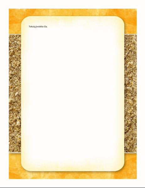 Blankas (dizainas – saulė ir smėlis)