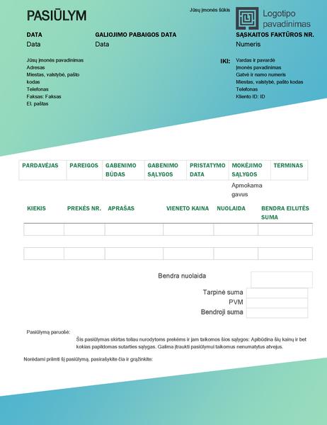 Pardavimo pasiūlymas (žalio gradiento dizainas)