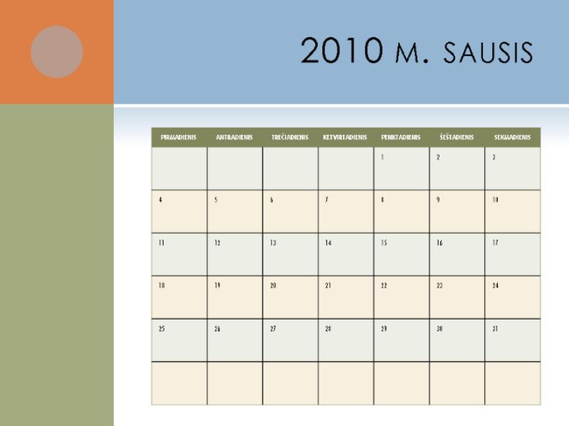 2010 m. kalendorius (Pr–S)