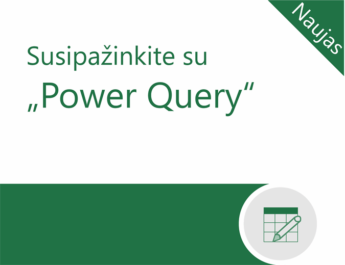 """Power Query"" mokymo programa"