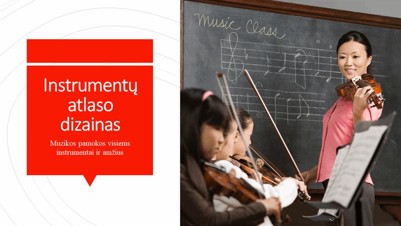 Instrumentų atlaso dizainas