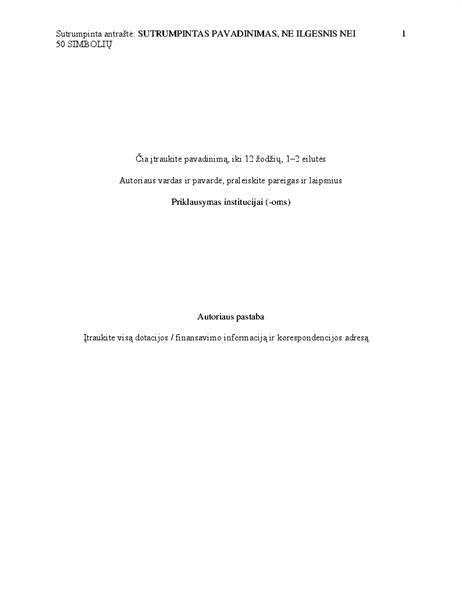 APA stiliaus dokumentas