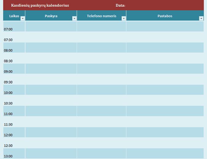 Kasdienių paskyrų kalendorius