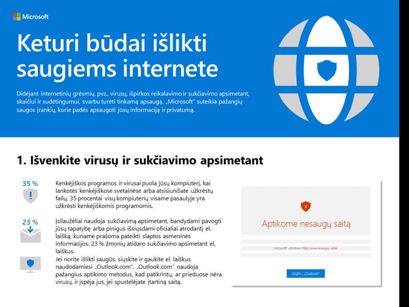 Keturi būdai išlikti saugiems internete