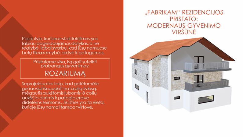 """""""Fabrikam"""" rezidencijos – aukščiausias šiuolaikinio gyvenimo lygis"""