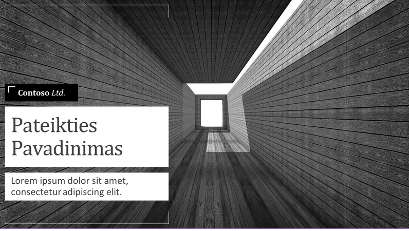 Trumpas architektūros paslaugų pristatymas