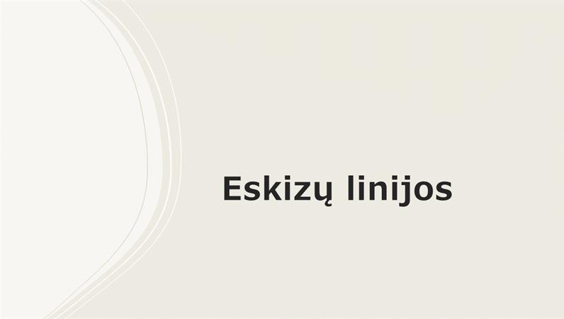 Eskizų linijos