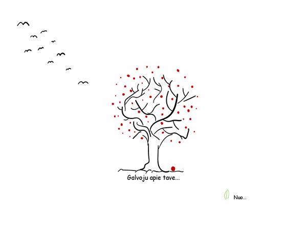 Užuojautos kortelė su medžiu