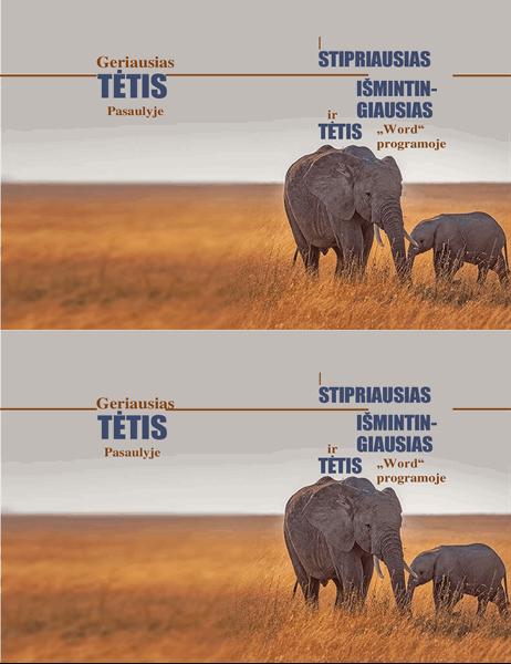 Tėvo dienos atvirukas Išmintingas dramblys