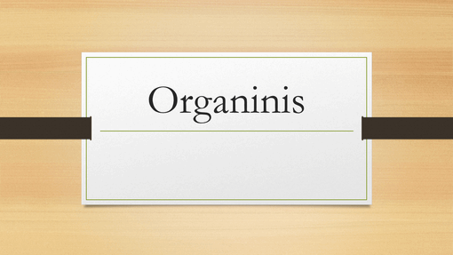 Organinis