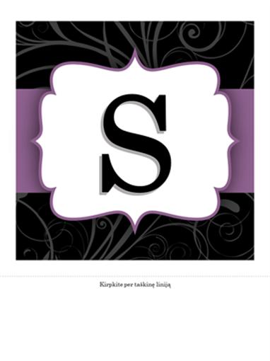 Sukakties juosta (violetinės juostelės dizainas)