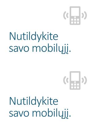 Mobiliojo telefono išjungimo priminimo plakatas