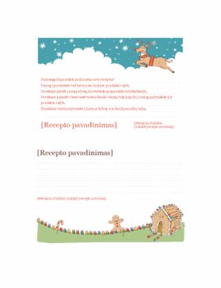 Kalėdinių receptų kortelės