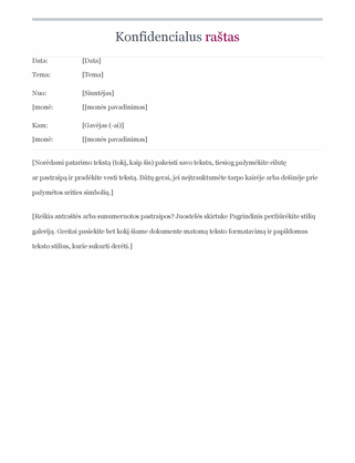 Konfidencialus raštas