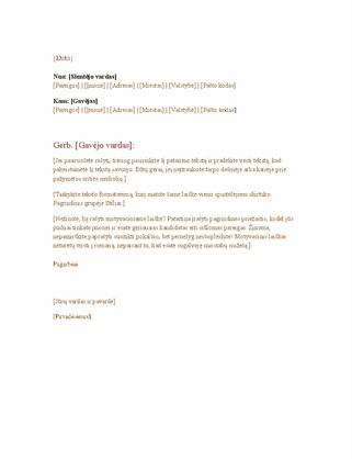 Oficialus verslo laiškas