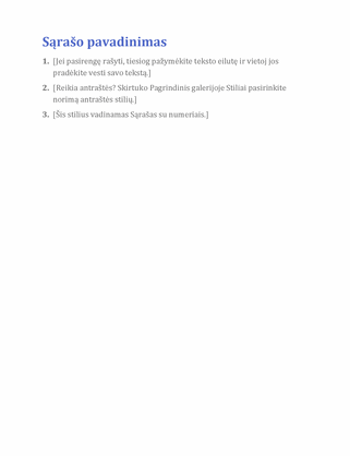 Paprastas sąrašas