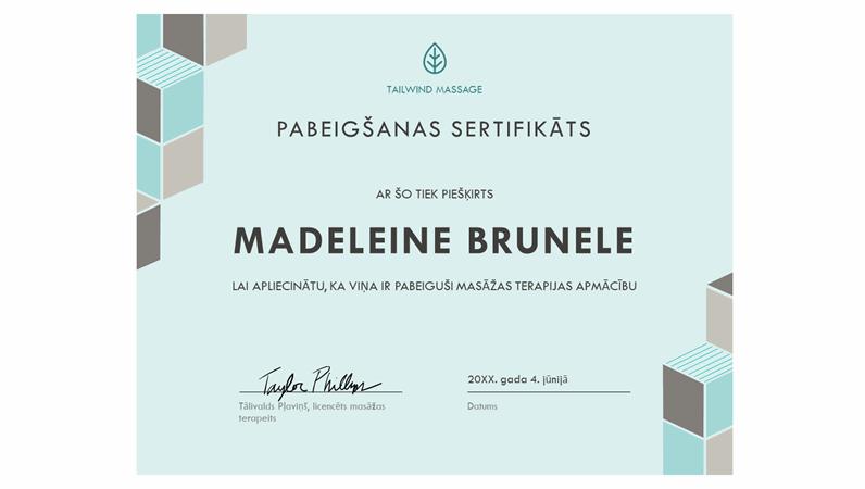 Pabeigšanas sertifikāts