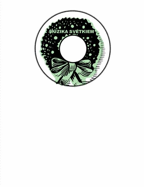 Brīvdienu mūzikas kompaktdiskau uzlīmes (paredzēts darbam ar Avery 5824)