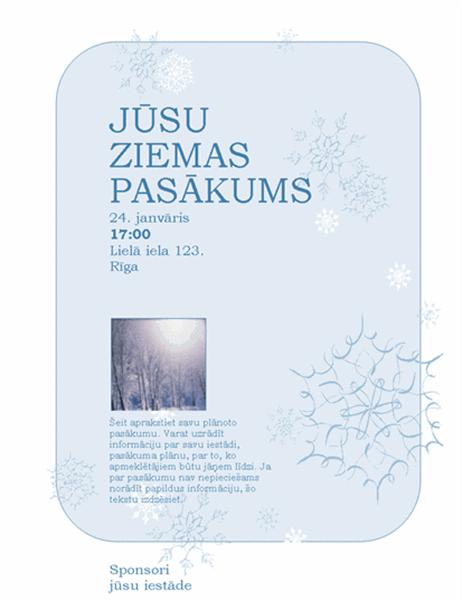 Ziemas pasākumu skrejlapa