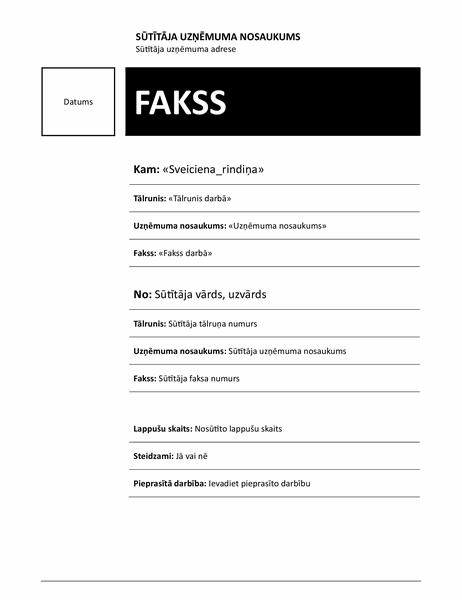 Pasta sapludināšanas fakss (mediānas dizains)