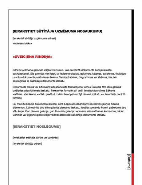 Pasta sapludināšanas vēstule (pamata noformējums)