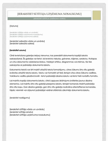 Vēstule (aptiekāra noformējums)