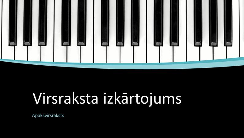 Muzikālo līkņu prezentācija (platekrāns)