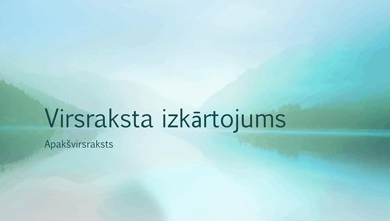 Mierīga noformējuma prezentācija par dabas tēmu (platekrāna)