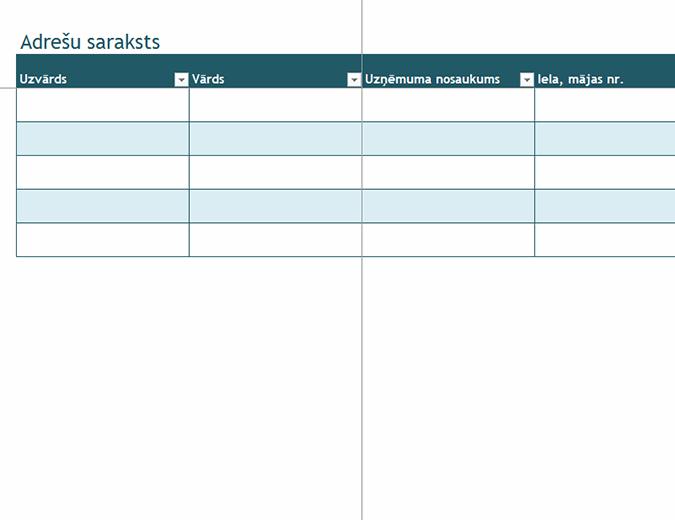 Adrešu saraksts