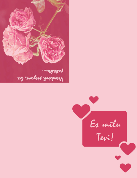 Romantiska kartīte (divkāršs locījums)