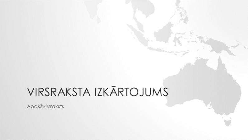 Pasaules karšu sērija: Austrālijas kontinenta prezentācija (platekrāna)