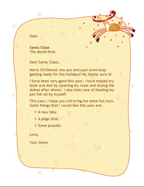 Vēstule Ziemassvētku vecītim