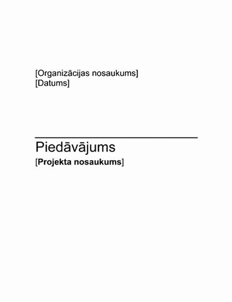 Ziedojumu vākšanas projekta priekšlikums