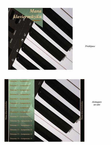 Kompaktdisku vāciņu ieliktņi (noformējums ar klavierēm)
