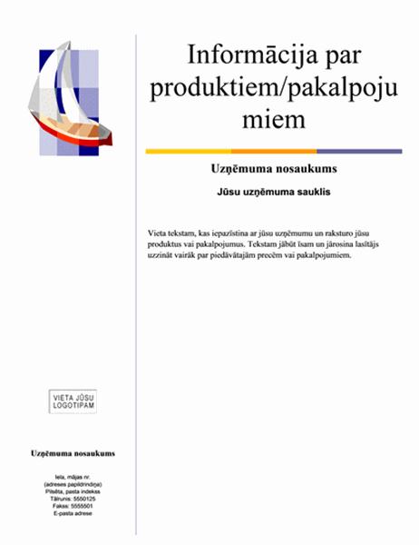 Reklāmas lapa (horizontāls dizains)