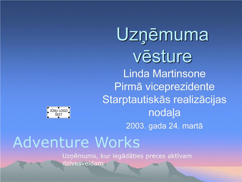 Uzņēmuma fona prezentācija