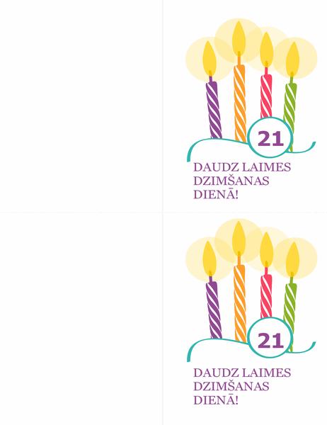 Dzimšanas dienas kartītes ar atskaites punktiem (2 lapā, paredzēts Avery 8315)