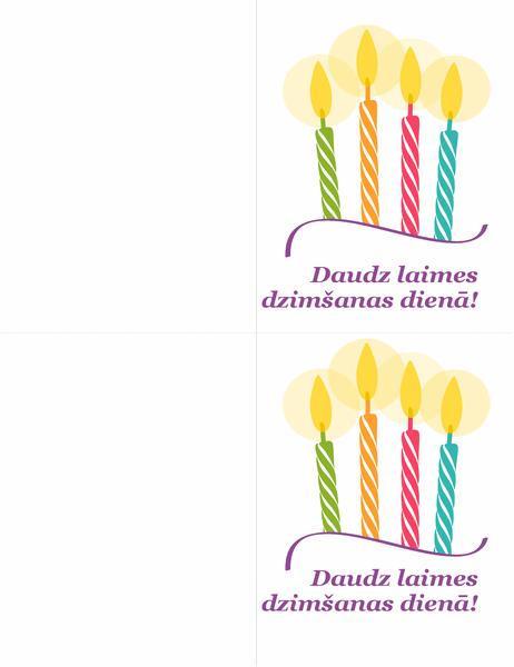 Dzimšanas dienas kartītes (2kartītes lapā)