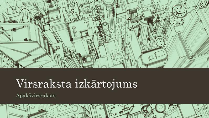 Lietišķa biroja prezentācija ar pilsētas skices fonu (platekrāna)
