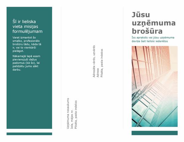 Trīskārt salocīta brošūra (zila)