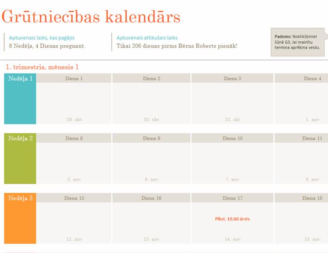 Grūtniecības kalendārs